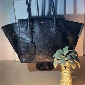 Gianni Bini ~ Black with Gold Accents Handbag